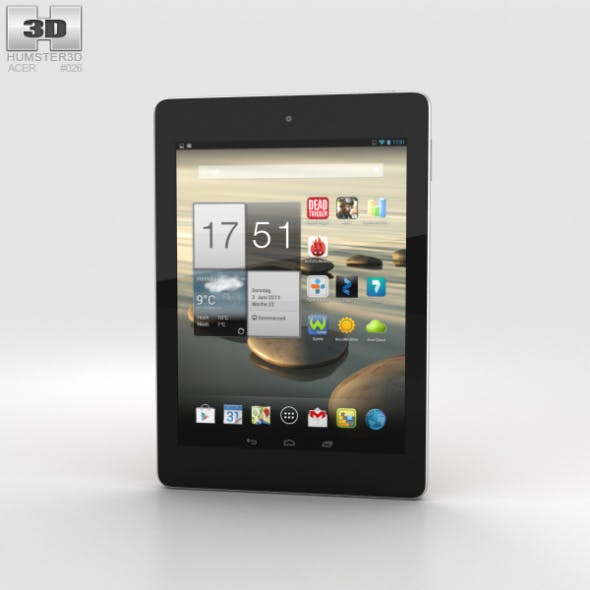 Acer Iconia Tab A1-810 Red - 3DOcean Item for Sale