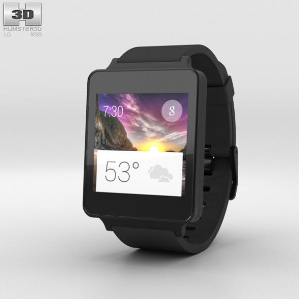 LG G Watch Black Titan