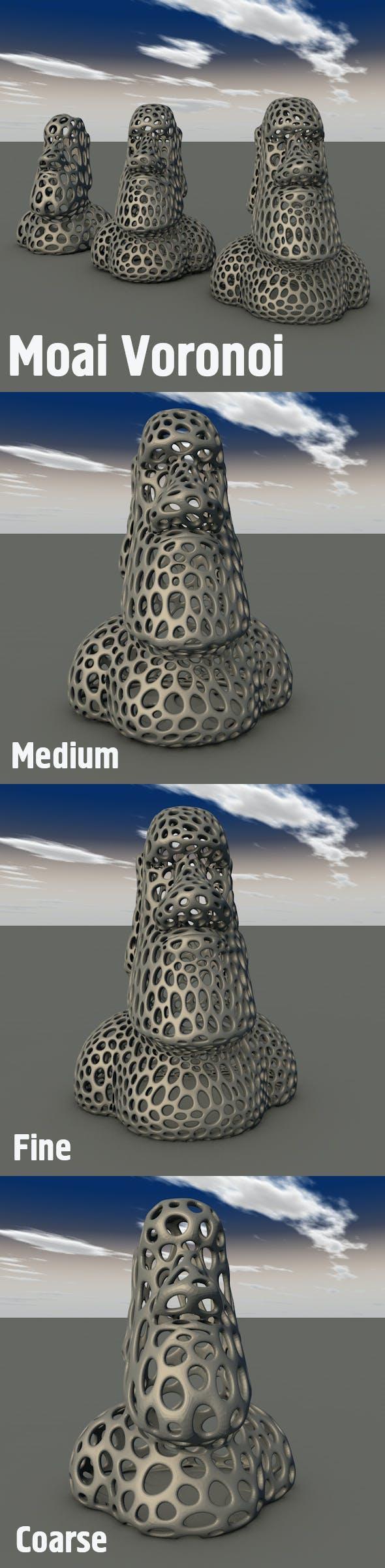Moai Voronoi - 3DOcean Item for Sale