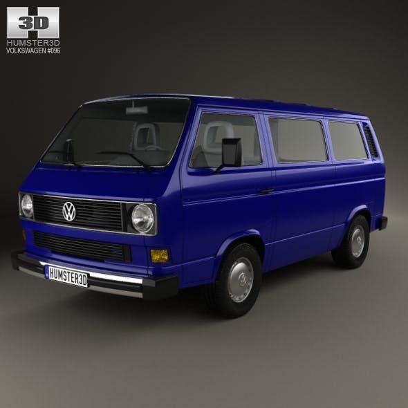 Volkswagen Transporter (T3) Passenger Van 1990 - 3DOcean Item for Sale