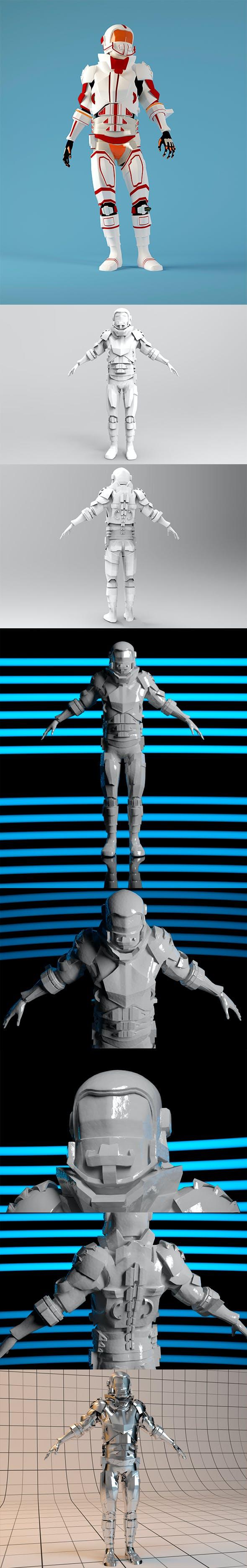 Space Soldier - 3DOcean Item for Sale