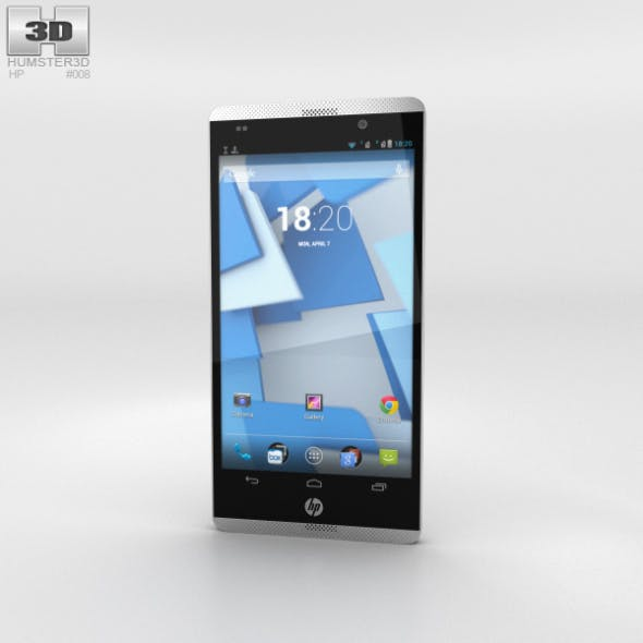 HP Slate 6 VoiceTab Gray - 3DOcean Item for Sale