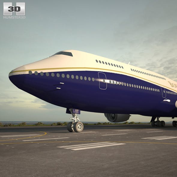 Boeing 747-8I Business Jets - 3DOcean Item for Sale