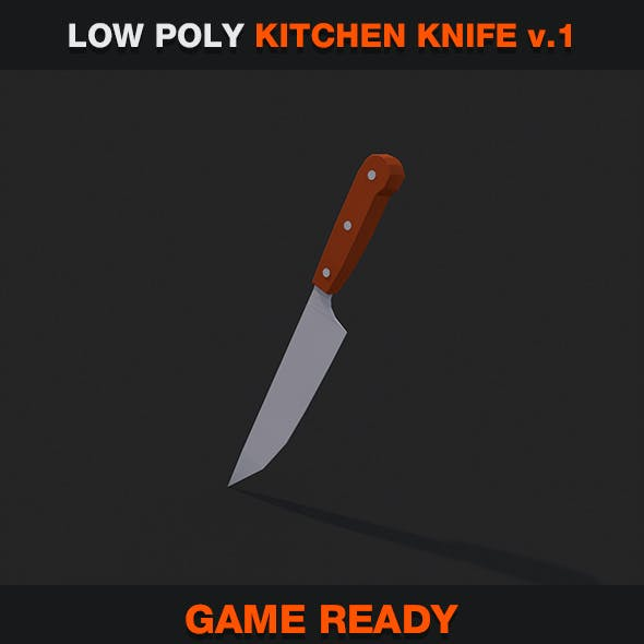 Low Poly Kitchen Knife v.1