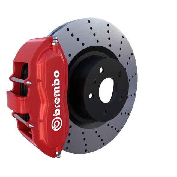 Sport Ventilated Brake System - 3DOcean Item for Sale