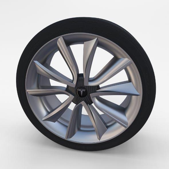 Tesla Model 3 Rim - 3DOcean Item for Sale