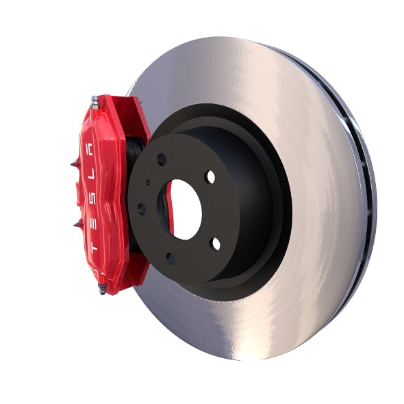 Tesla Ventilated Brake System