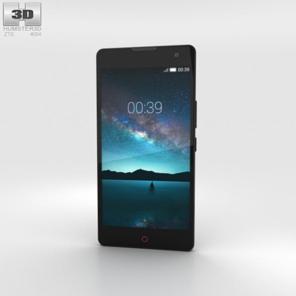 ZTE Nubia Z7 Max Black - 3DOcean Item for Sale