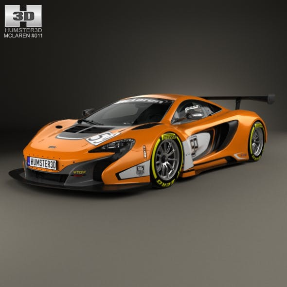 McLaren 650S GT3 2015 - 3DOcean Item for Sale