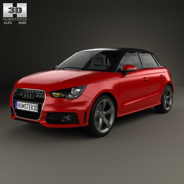 Audi A1 sportback 2012 - 3DOcean Item for Sale