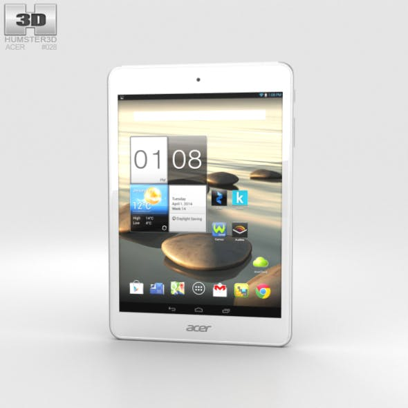 Acer Iconia A1-830 White - 3DOcean Item for Sale