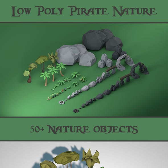 Low Poly Pirate Nature