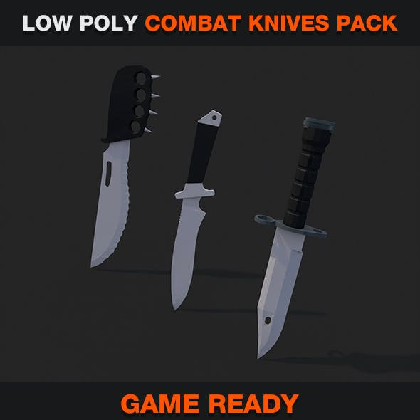 Low Poly Combat Knives Pack