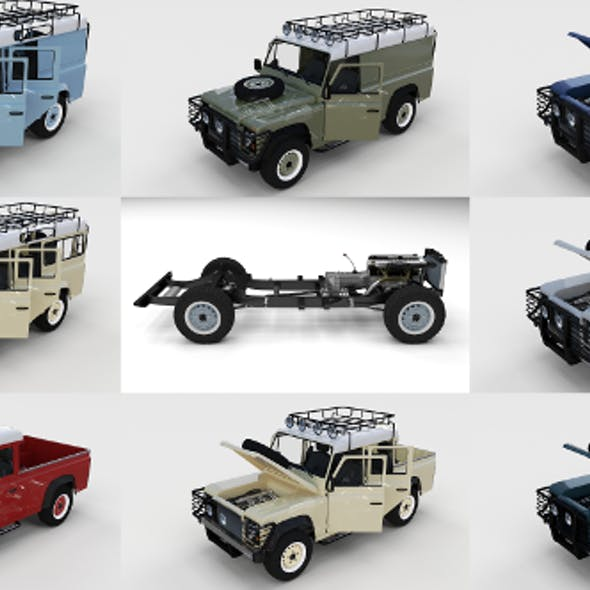 Full Land Rover Defender Pack (w chassis and interior)