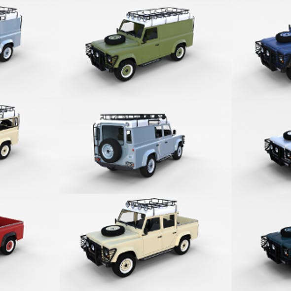 Land Rover Defender Pack with interior