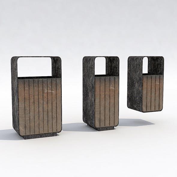 Street trash can - 4 - 3DOcean Item for Sale
