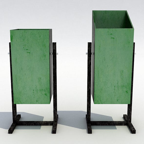 Street trash can - 9 - 3DOcean Item for Sale