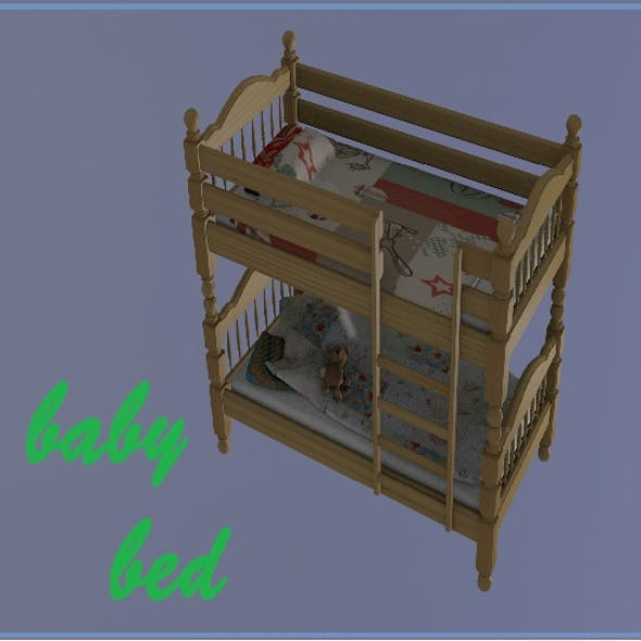 Bunk bed ,children's with toy bear