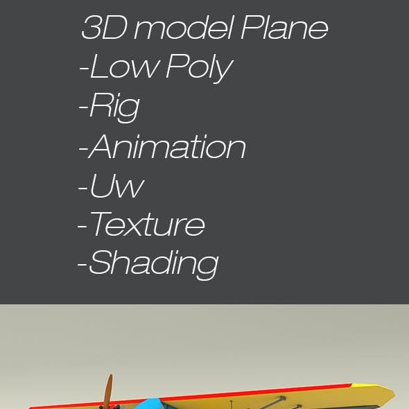 3D Model Plane with propeller