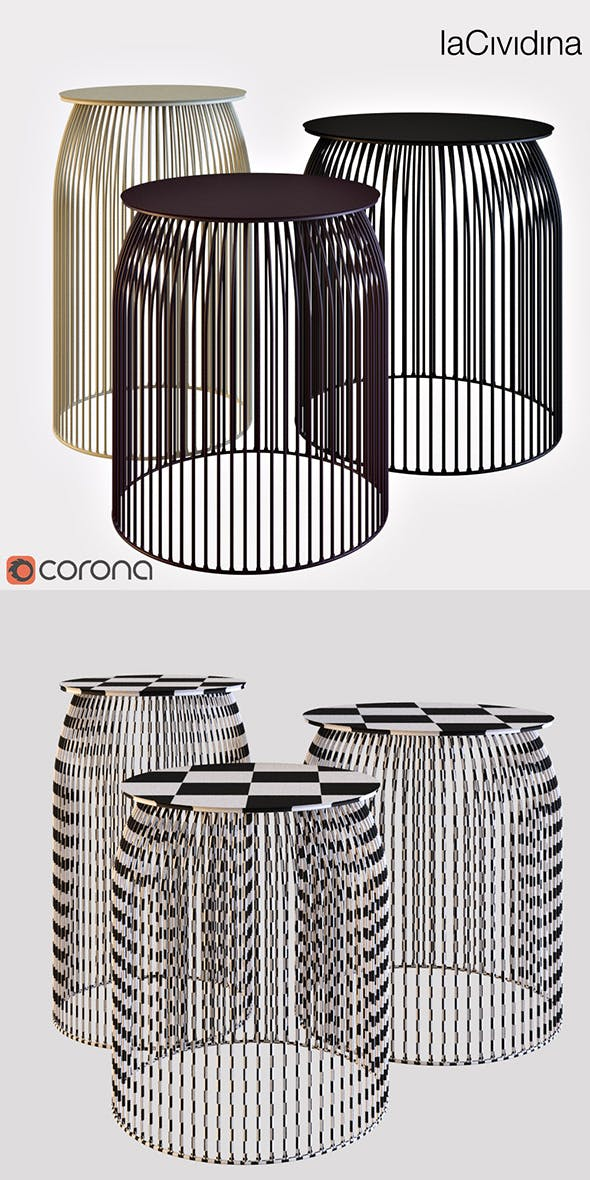 La Cividina TURI TURI   Coffee table - 3DOcean Item for Sale