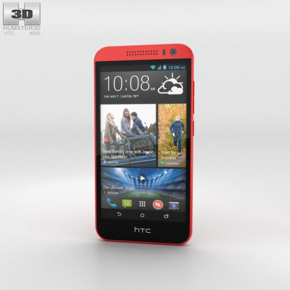 HTC Desire 616 Red - 3DOcean Item for Sale