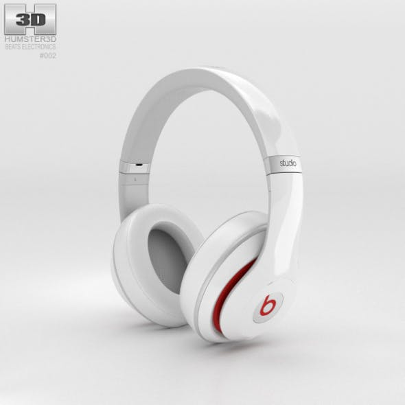 Beats by Dr. Dre Studio Over-Ear Headphones White