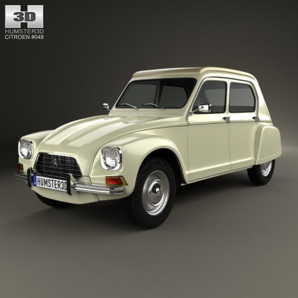 Citroen Dyane 1967 - 3DOcean Item for Sale