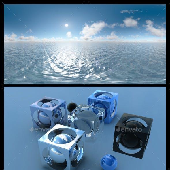 Ocean Blue Clouds 13 - HDRI
