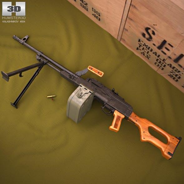 PK machine gun - 3DOcean Item for Sale