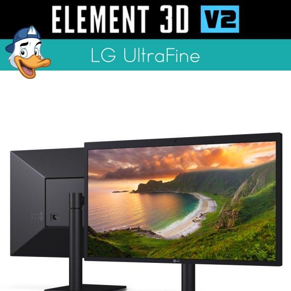 LG UltraFine for Element 3D