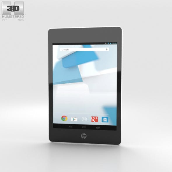 HP Slate 8 Pro White - 3DOcean Item for Sale