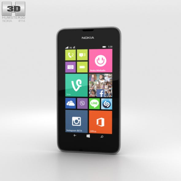 Nokia Lumia 530 Dark Grey - 3DOcean Item for Sale