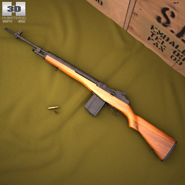 M14 rifle - 3DOcean Item for Sale