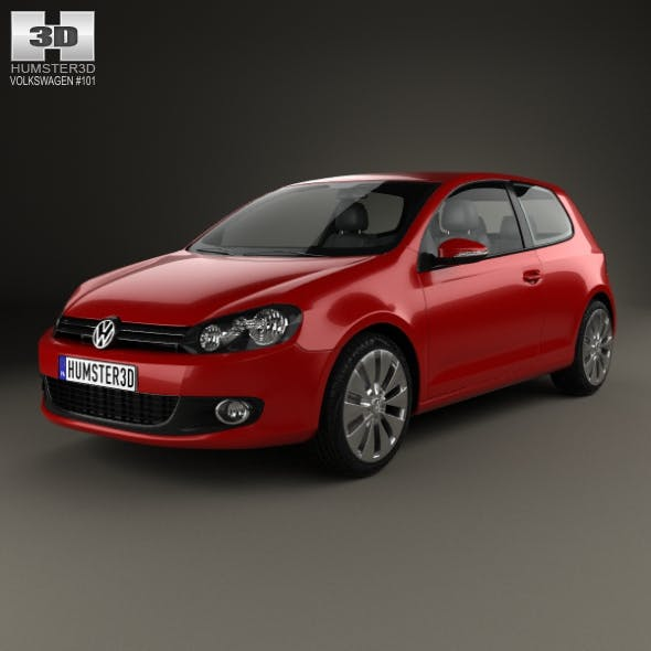 Volkswagen Golf 3-door 2009 - 3DOcean Item for Sale