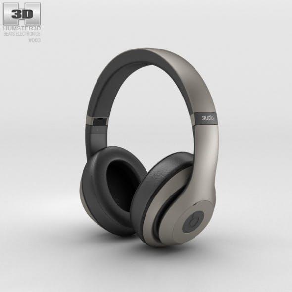 Beats by Dr. Dre Studio Over-Ear Headphones Titanium - 3DOcean Item for Sale