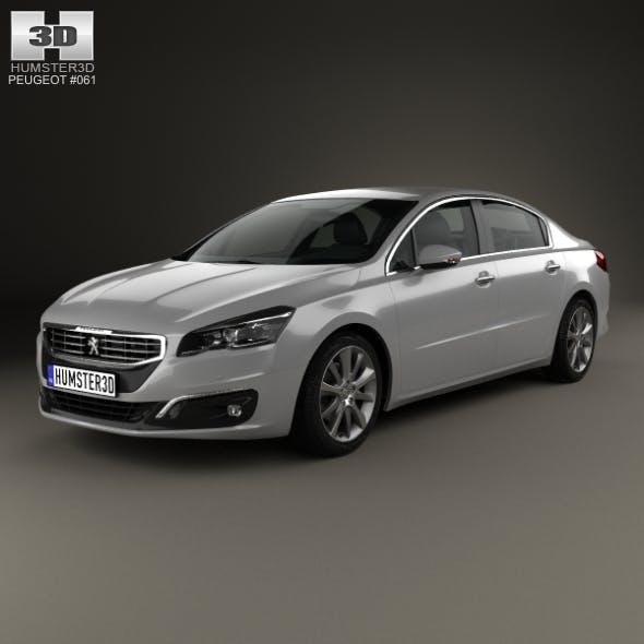 Peugeot 508 sedan 2014 - 3DOcean Item for Sale