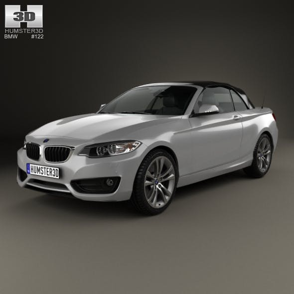 BMW 2 Series convertible 2014 - 3DOcean Item for Sale