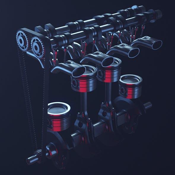 Motor - Engine - 3DOcean Item for Sale