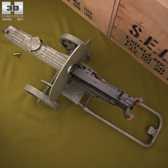 Maxim gun 1910 - 3DOcean Item for Sale