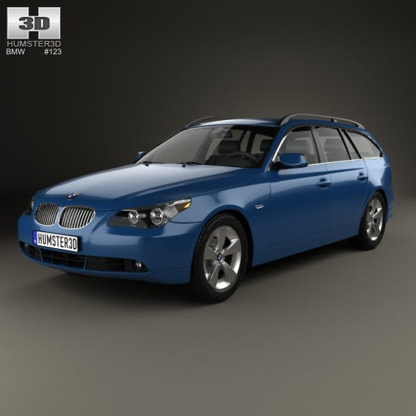 BMW 5 Series touring (E61) 2007 - 3DOcean Item for Sale