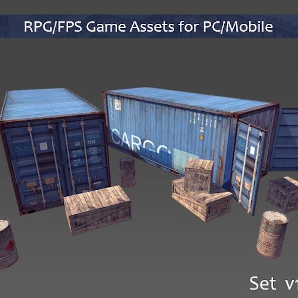 RPG/FPS Game Assets for PC/Mobile (Set v1.0)