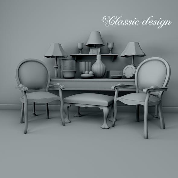 Classic design. - 3DOcean Item for Sale