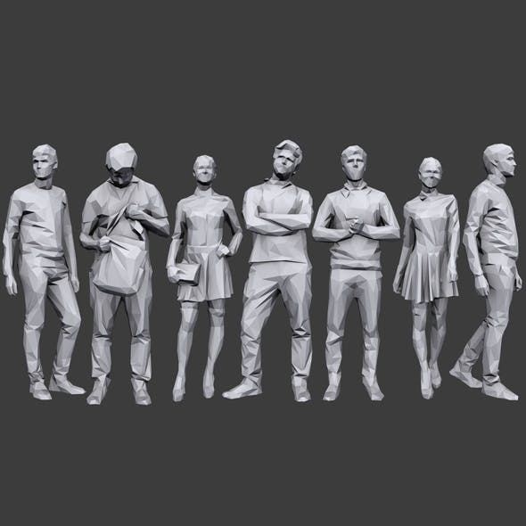 Lowpoly People Casual Pack Vol.4