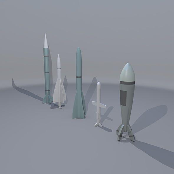 5 Missile - 3DOcean Item for Sale