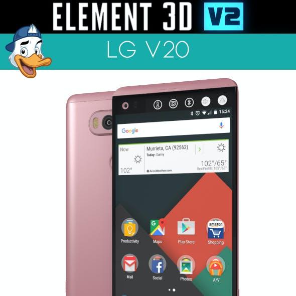 LG V20 for Element 3D