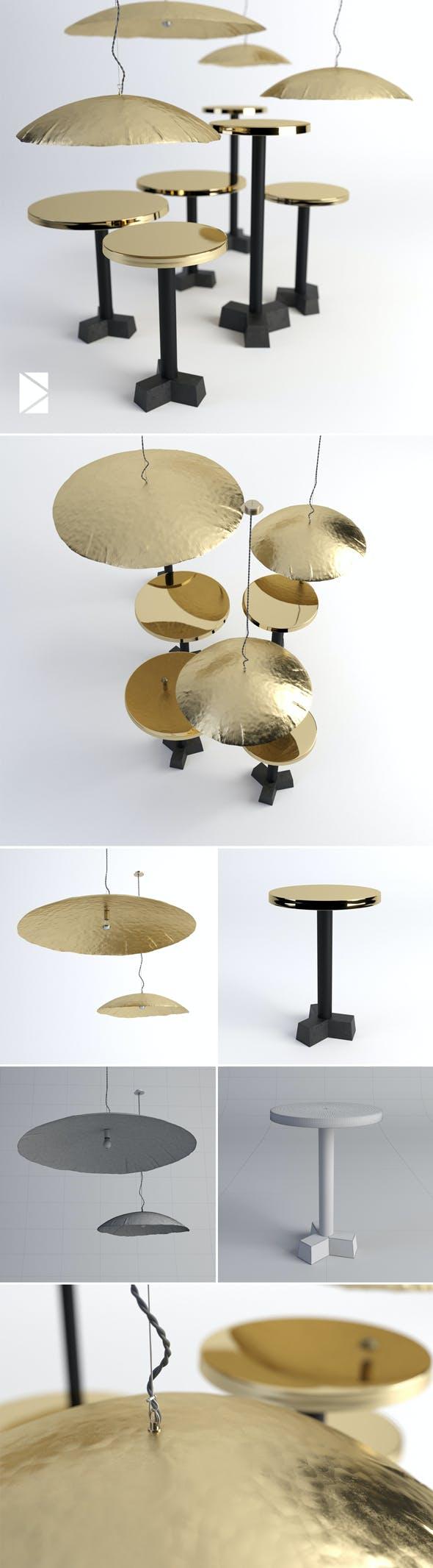 Gervasoni Brass Collection - 3DOcean Item for Sale