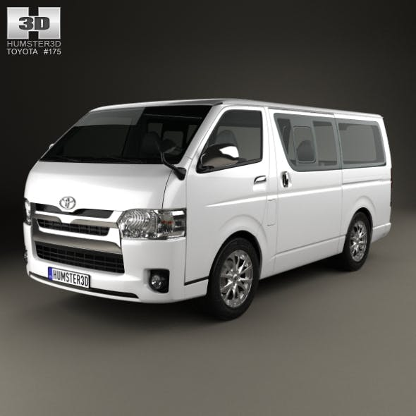 Toyota HiAce LWB Combi 2013 - 3DOcean Item for Sale