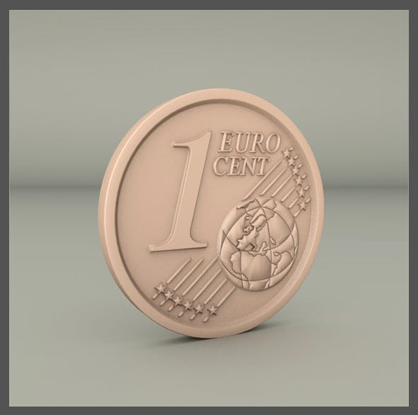 1 cent euro - 3DOcean Item for Sale
