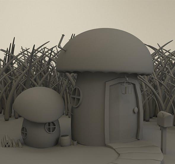 Mushroom Cottage - 3DOcean Item for Sale