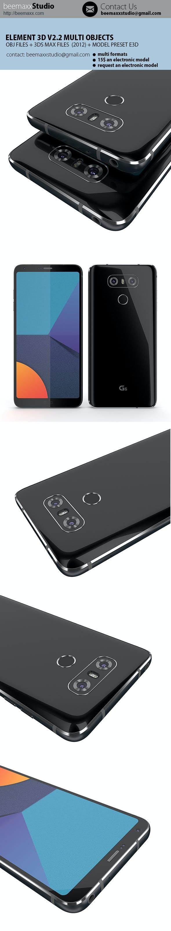 E3D V2.2 - LG G6 - 3DOcean Item for Sale